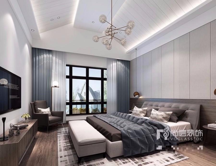 富力湾260m别墅室内设计——现代简约风格