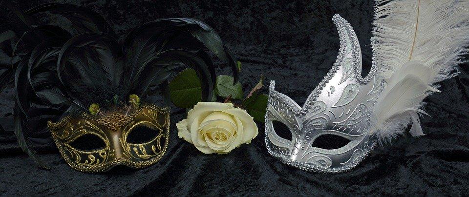 掩码, 嘉年华, 威尼斯, 神秘, 关闭, 浪漫, 狂欢, 化妆舞会, 人类, 隐藏, 闪光, 羽毛, 黑色