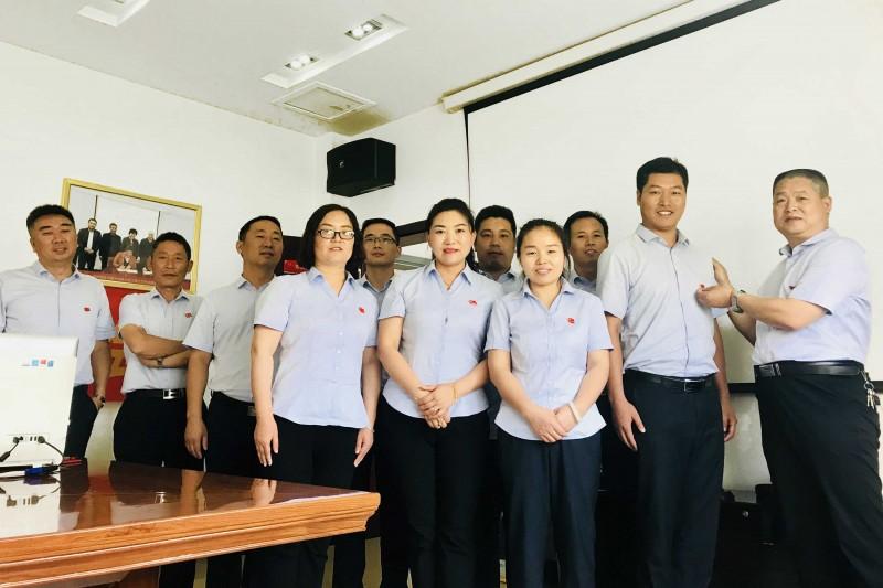 支部书记徐鸣君同志给党员戴党徽(活动一) (2).JPG