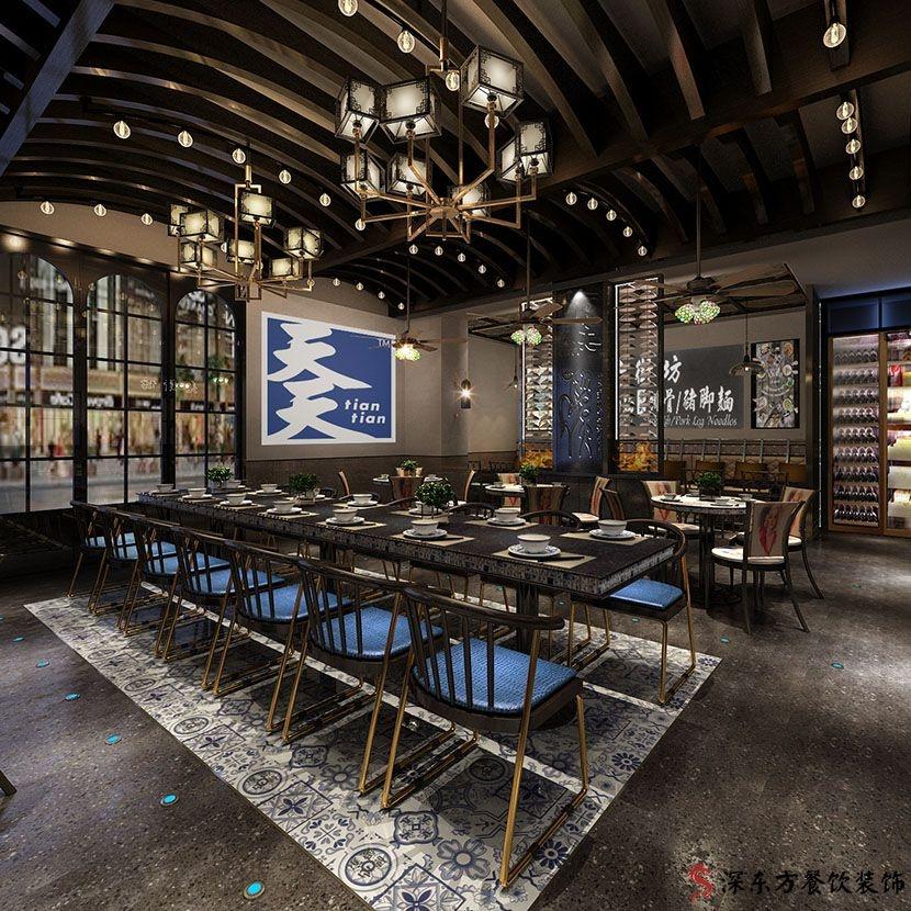 天天海南鸡饭餐厅设计效果图