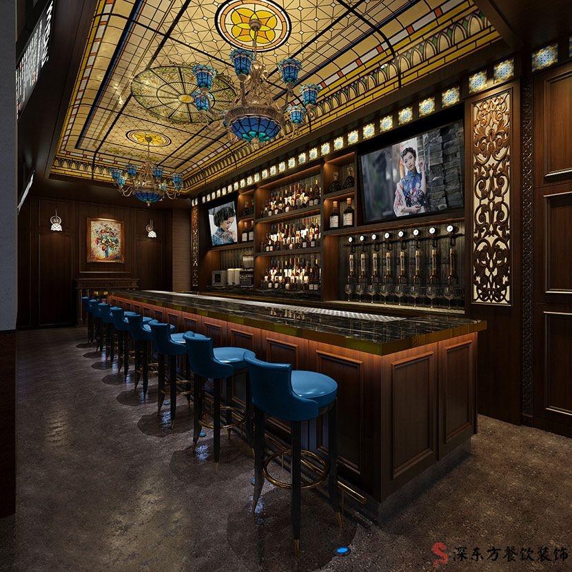 天天海南鸡饭品牌餐厅设计效果图