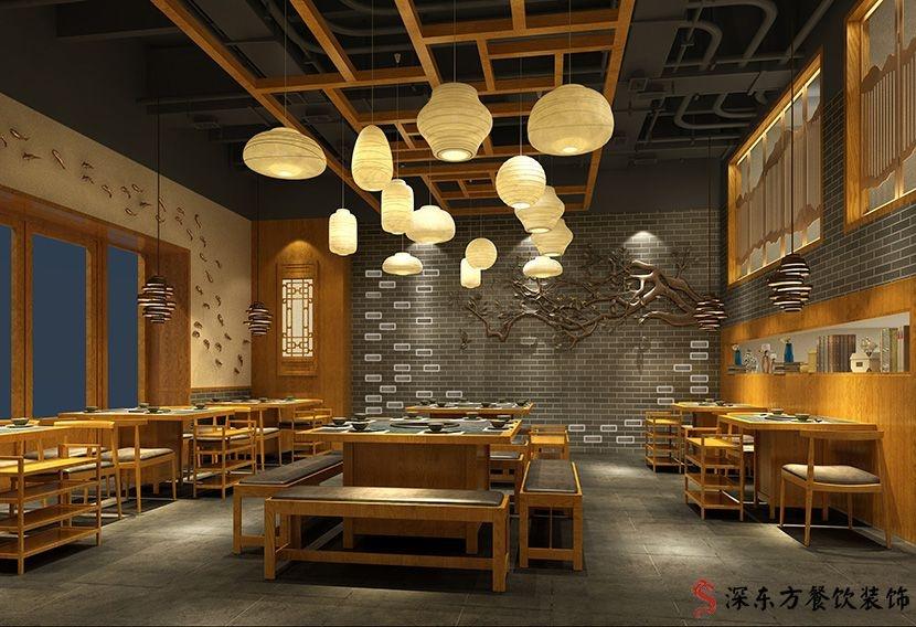 快餐主厅餐厅设计装修效果图