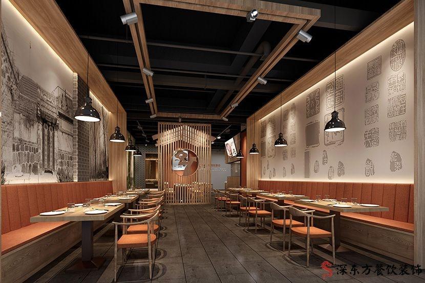 餐厅设计主厅效果图