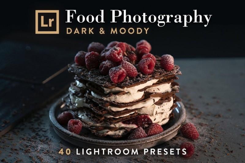 【S141】专业级食品暗黑调色LR预设40款 FOOD, Dark & Moody
