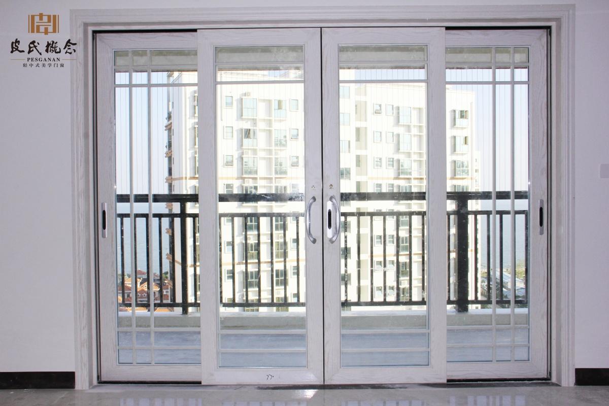 白橡木,白色阳台推拉门