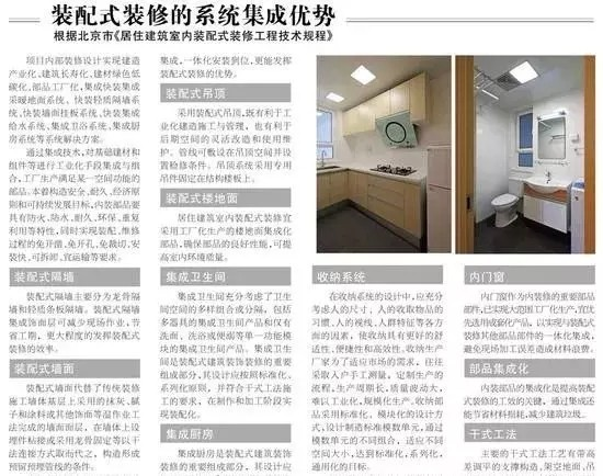 【政策】北京市全面推行住宅装配式装修