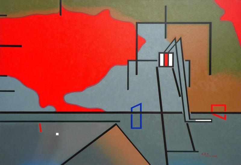 《瞄准.开枪》160×110cm 布面油画 2012年.jpg