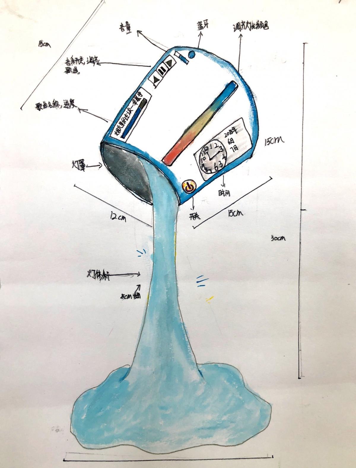 作品名称创意台灯 作者刘可欣 年龄11岁 家长联系方式13520512746学校大兴区瀛海镇第一中心小学 指导教师陈洪玲.jpg