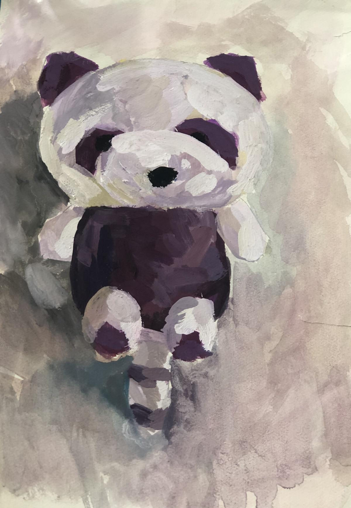 作品名称可爱的小浣熊 作者张舒媛年龄9岁 家长联系方式 18610718648学校大兴区瀛海镇第一中心小学 指导教师张然.jpg