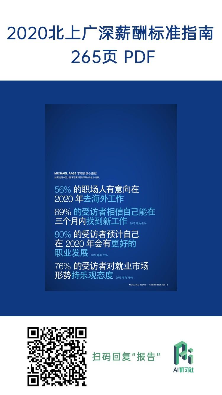 2020 北上广深薪酬标准指南!(附完整报告!)