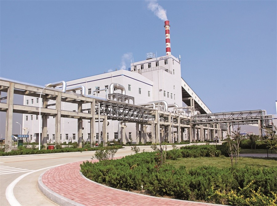 04 青岛奥门葡京新河产业园区热电项目首创氨法—烟气制取还原液脱硫方式,与园区内企业产品建立了上下游产业链关系,形成了绿色循环,实现了零排放.JPG