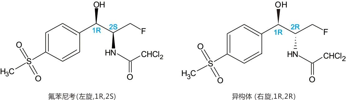 高光学氟苯尼考图片和分子式.jpg