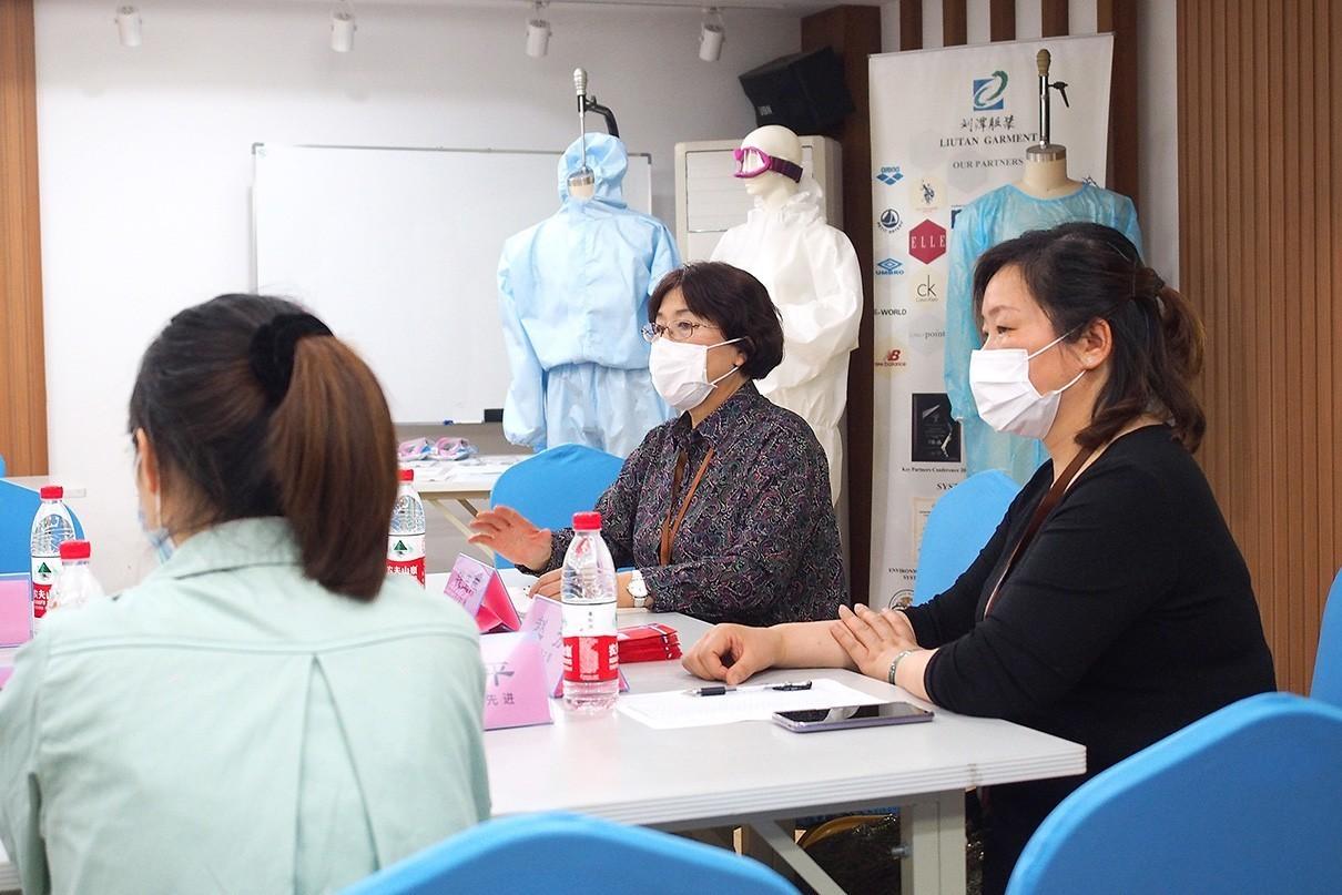 刘潭服装模范员工