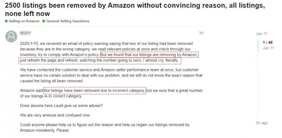 亚马逊卖家listing被下架是因为什么,亚马逊卖家产品类目错了怎么改